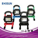 RGB 2200mA電池の景色の照明のための長い生命LED再充電可能な洪水の照明