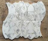 Mattonelle Waterjet della stanza da bagno del mosaico del Onyx del miele