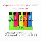 ロゴの習慣Fh-606rainbowのブタンのガスが付いている多彩なプラスチックライター