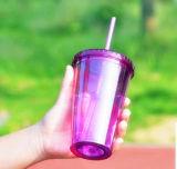 مزدوجة جدار فنجان بلاستيكيّة بلاستيكيّة تبن فنجان