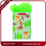 Saco de Natal Kraft de Árvore de Natal com Tag e Estampagem