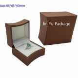 Коробка упаковки подарка ювелирных изделий популярного горячего надувательства роскошная деревянная для кольца