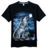 Men's 100 Cotton Subliming Casual 3D Animal Impresso T-Shirt