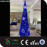 إكليل يشعل الحافز عيد ميلاد المسيح مخروط شجرة أضواء