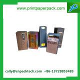Schwarzer Punkt-heißes MattuVsilber, das Papierkasten für kosmetische Verpackung stempelt