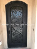 Dekorative Eingangs-Entwurfs-Vorderseite-einzelne Eisen-Tür für Landhaus