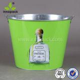 Оцинкованной жести льда ковш с металлической ручкой для бутылок вина охладитель/ охладитель пива