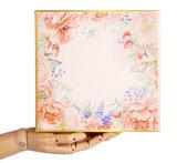Индивидуальные европейском стиле элегантный букет печать подарочная упаковка для проведения свадеб пользу подарочной упаковки 23см*23см*8 см