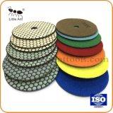 Marmo del diamante da 5 pollici & tamponi a cuscinetti per lucidare del granito con uso a secco