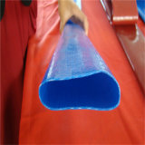 Kleurrijk leg de Vlakke Irrigatie van de Landbouw de Plastic Pijp van pvc van 4 Duim