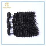 加工されていなく深い波の毛の拡張ペルーの人間の毛髪