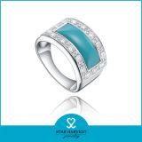 La qualité Turquoise naturelle l'anneau de doigt