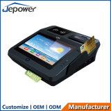 Tocar em tudo em uma posição de Epos com leitor de NFC e identificação da impressão digital