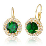Haut de la conception de bijoux de corps Crystal Ball Stud Earrings