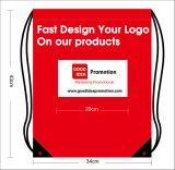 ジッパーデザインのドローストリング袋