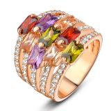Nam de Gouden Geplateerde Smaragdgroene Gouden Ring van de Diamant van het Huwelijk van Zircon van de Halfedelsteen toe