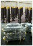 Cilindro cromado de atuação do petróleo hidráulico do atuador único para o caminhão da exploração agrícola