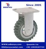 Polyurethane resistente Caster con Tyre Veins