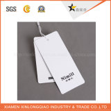 La aduana imprimió las etiquetas de papel de la caída de la impresión de la escritura de la etiqueta de la ropa de la etiqueta engomada de la ropa