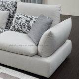 Diseño simple combinación de muebles de salón gris de sofá de tela