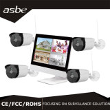 "720p Wireless Bullet P2P Kit NVR Security Câmara CCTV com monitor LCD de 10"""