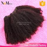 Tessuto brasiliano dei capelli umani di Afro dell'arricciatura del Virgin non trattato brasiliano dei capelli 100%