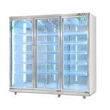 선진 기술을%s 가진 두 배 옆 유리제 문 전시 진열장 냉각기
