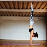 Imprime Blanco Negro el Yoga ejercitarse Pants Leggings (3055)