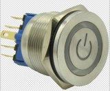 Hbgq30p-11etによってリング照らされる瞬時力の記号の金属の押しボタンスイッチ