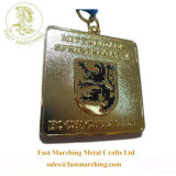 カスタム整形円形ドイツ真鍮の折りえりPinの金属はメダルを遊ばす