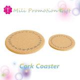 Corcho madera / Logotipo de la impresión personalizada almohadilla de la copa de un posavasos de cristal