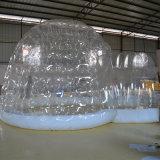 Tente gonflable transparente d'usager pour la famille