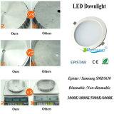 Dimmableアルミニウム円形の引込められた15W LEDの天井はつく