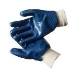Джерси полностью покрыты Kint гильзы нитриловые перчатки на запястье для работника