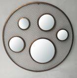 Blocco per grafici circolare all'ingrosso di vendita caldo dello specchio del metallo della decorazione domestica