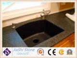 Stanza da bagno nera materiale di vanità del granito dello Shanxi del pavimento cinese poco costoso