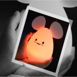 Покрасьте изменяя светильник ночи кролика СИД малышей светлый милый СИД
