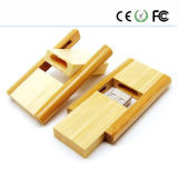 Emblema de flash USB de estilo Swivel Wooden Gift