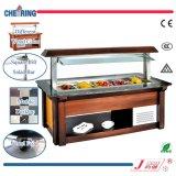 Comptoir à salades commercial de Slae de nourriture de restaurant chaud d'étalage/congélateur /Showcake