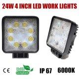 Car Truck Vehicle Driving Boat 9-32V Square (T1024S)를 위한 4 인치 24W LED Work Light