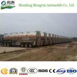 半3axlesアルミニウム実用的な石油燃料タンクトレーラーオイルのトラックのトレーラー