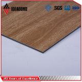 Панели сандвича деревянного покрытия взгляда PVDF алюминиевые