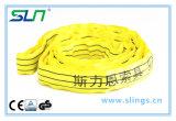 Imbracatura rotonda infinita di colore giallo 3t*1m con Ce/GS
