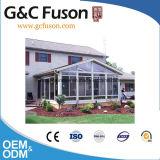 알루미늄 단면도 유리 일광실이 Custome 정원 유리에 의하여 유숙한다