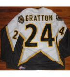 Mens Kingston Frontenacs Ohl Chris Stewart Nathan Hóquei no Gelo Jersey