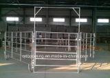 Гальванизированный ярд Corral лошади обшивает панелями загородку фермы