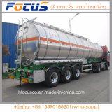 Adr-/punkt Certificate3 Wellen-Aluminiumkraftstoff-Tanker-LKW-Sattelschlepper