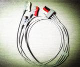 PRO1000 Snap&Klipp 6pin 3 Kabel des Kabel-ECG