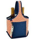 2 bouteille de vin isotherme transporteur pique-nique sac du refroidisseur