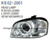자동차 부속 KIA 최적 조건 2005년을%s 맨 위 램프 적합. OEM: 92101-2g000/92102-2g000